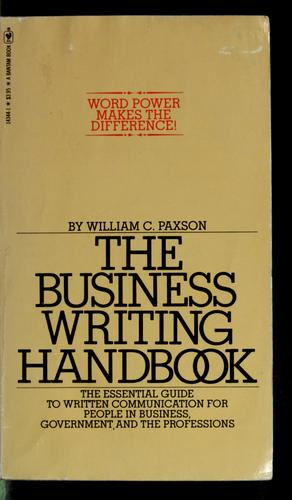 The business writing handbook