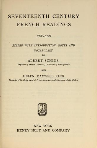 Download Seventeenth century French readings.