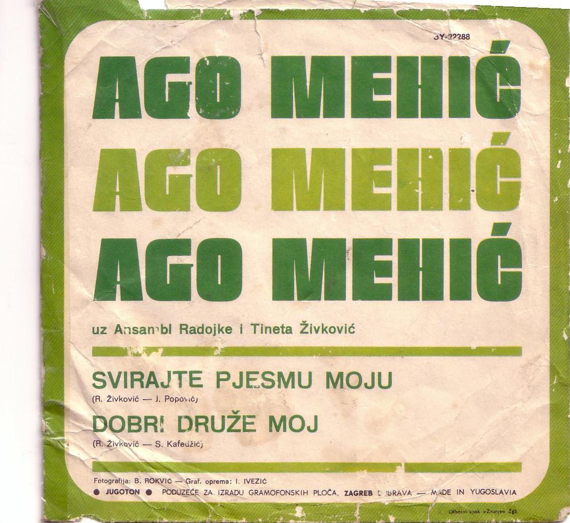 ago mehic 1972 ploca zadnja strana omot