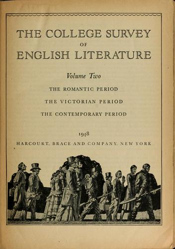 The college survey of English literature by Alexander M. Witherspoon